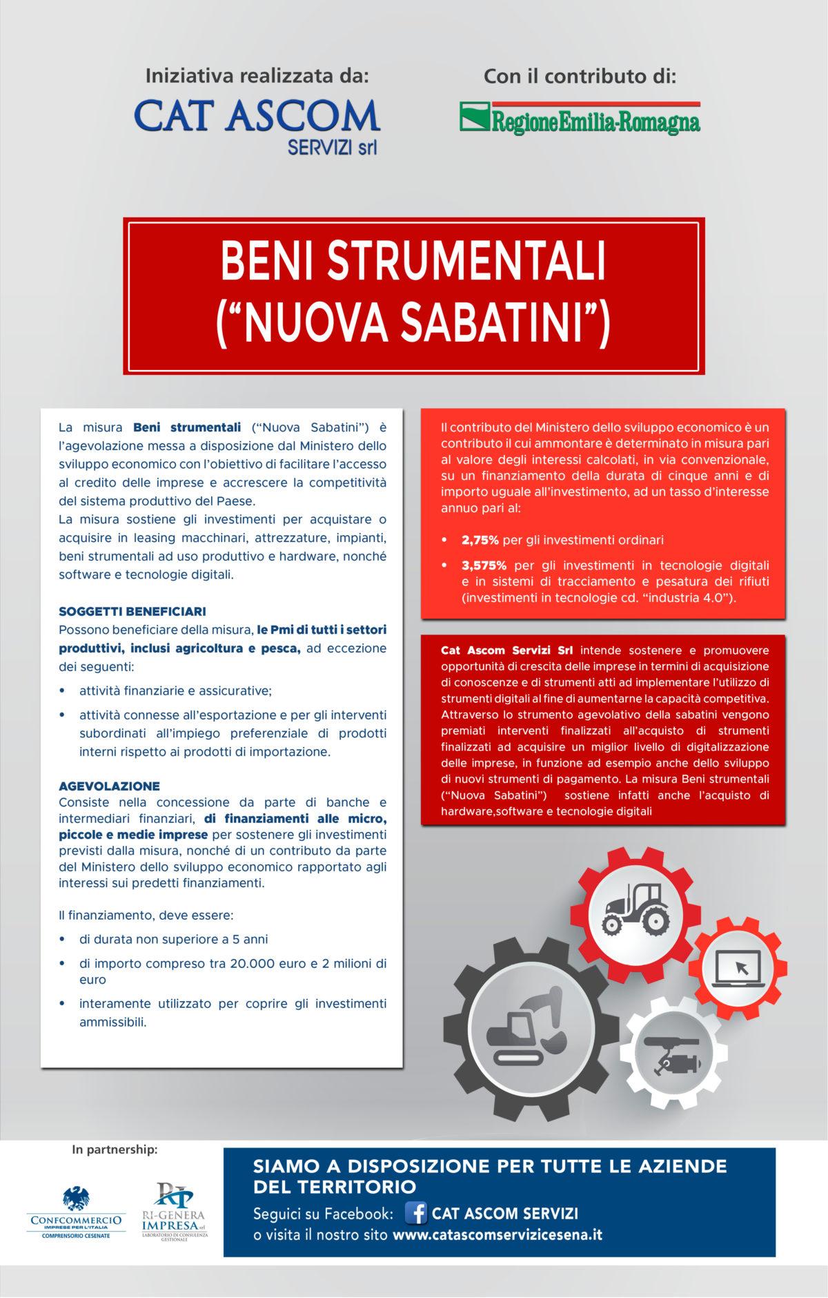 "Beni strumentali ""Nuova ""Sabatini"""