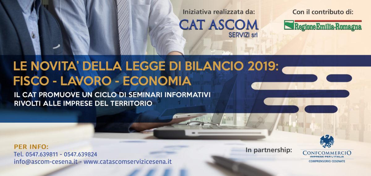 LE NOVITA' DELLA LEGGE  DI BILANCIO 2019:  FISCO – LAVORO – ECONOMIA