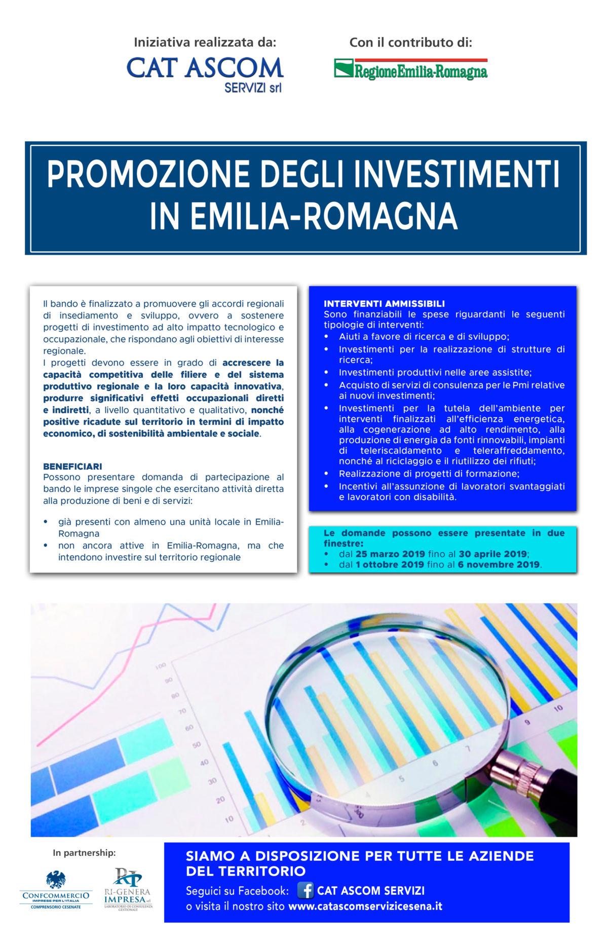 PROMOZIONE DEGLI INVESTIMENTI IN EMILIA-ROMAGNA