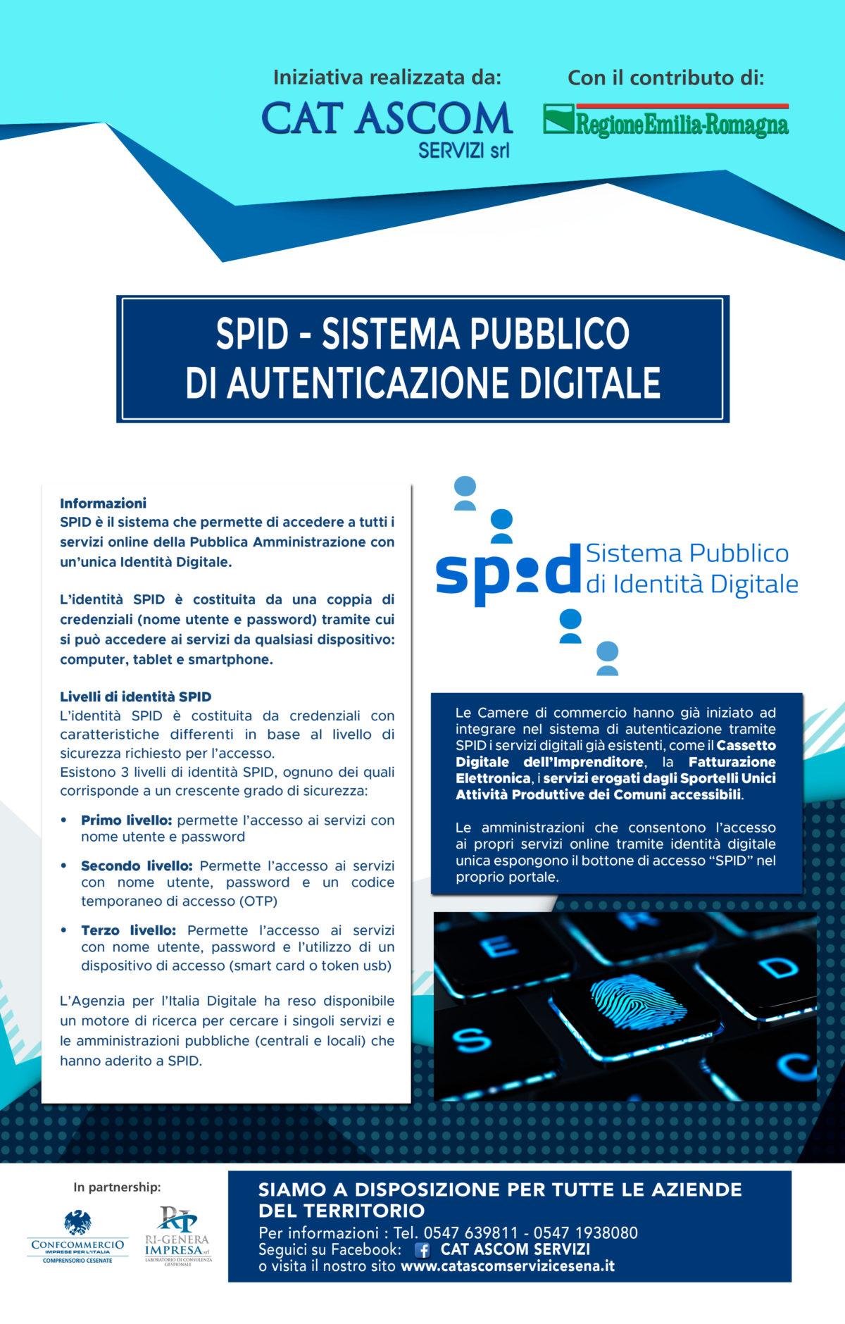 SPID – Sistema Pubblico  di Autenticazione Digitale