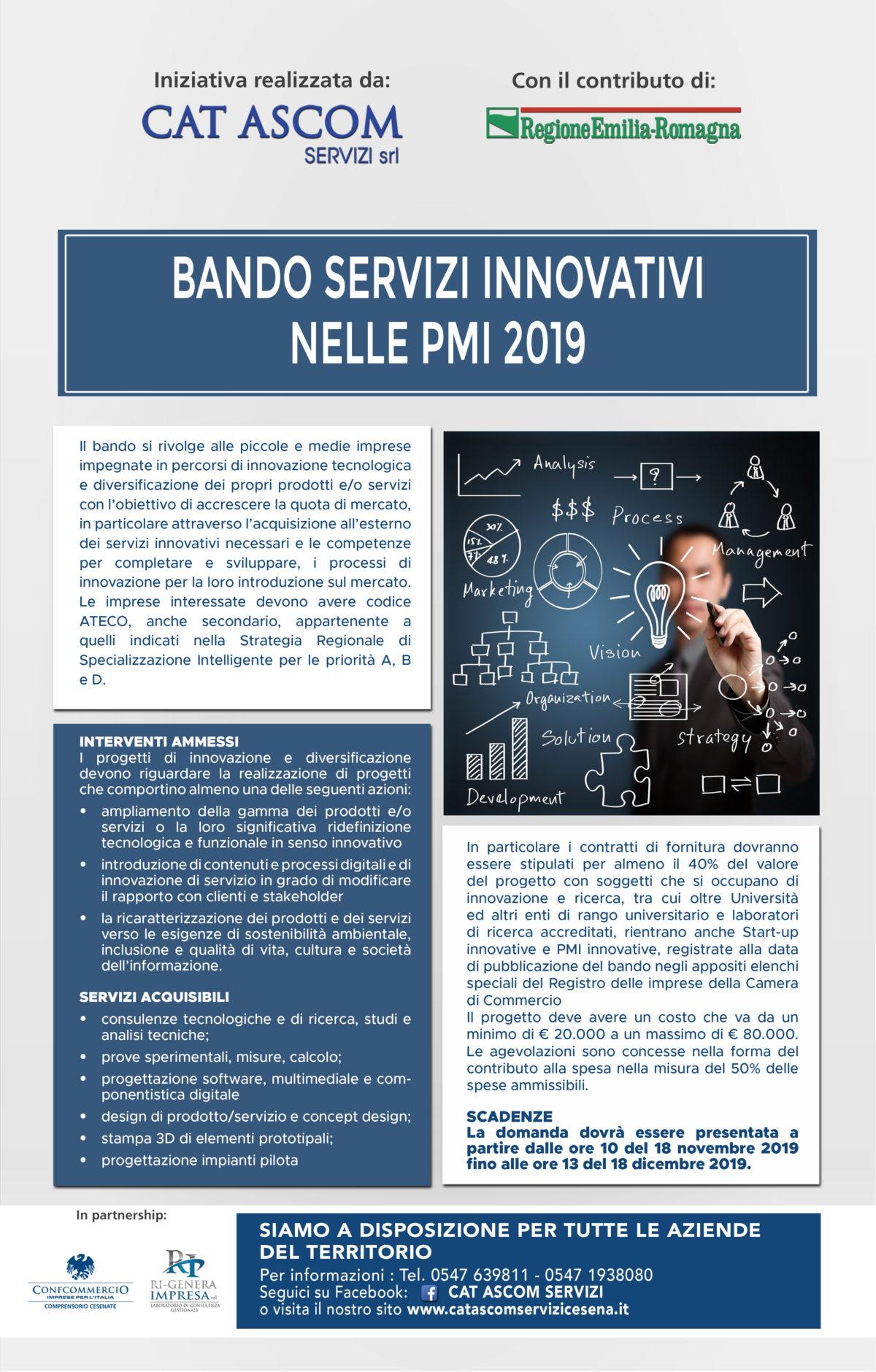 BANDO SERVIZI INNOVATIVI  NELLE PMI 2019