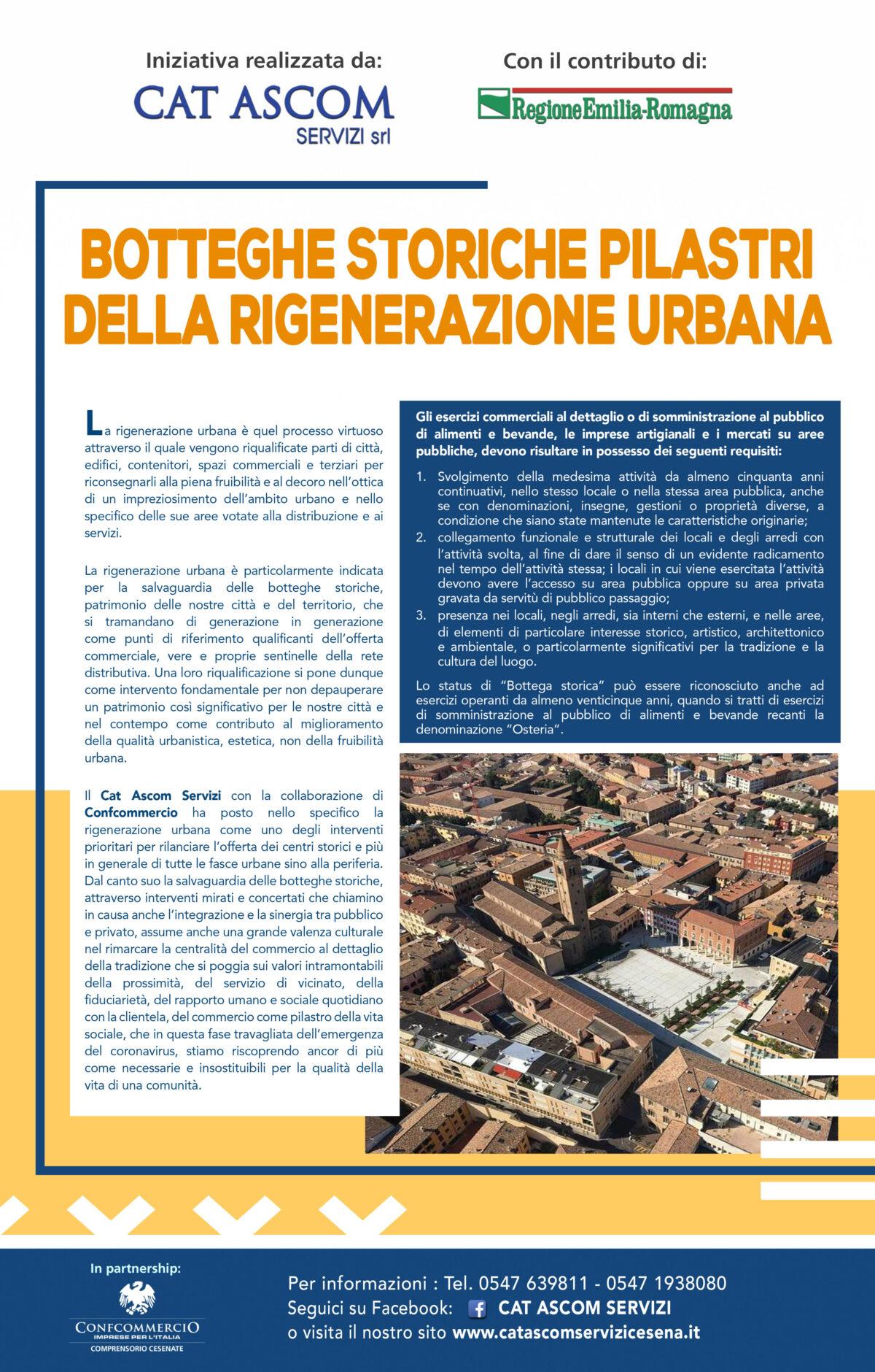 Botteghe storiche pilastri  della rigenerazione urbana